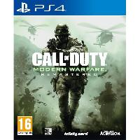 Jeux Video Call of Duty Modern Warfare Remastered Jeu PS4