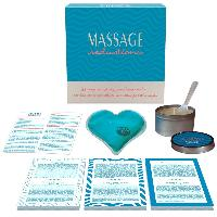 Jeux coquins Coffret Jeu Massage Seductions Bleu