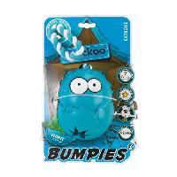 Jouet A Friandise EBI Jouet Coockoo Bumpies Menthe XL avec corde - 130x102x88mm - Bleu - Pour chien plus de 27kg