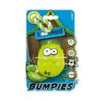 Jouet A Friandise EBI Jouet Coockoo Bumpies Pomme S avec corde - 70x56x48mm - Vert - Pour chien moins de 9kg