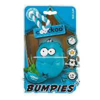 Jouet A Friandise Jouet Coockoo Bumpies Menthe M avec corde - 85x68x58mm - Bleu - Pour chien de 7 a 16kg