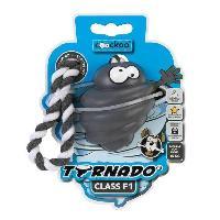 Jouet A Friandise Jouet Coockoo Tornado F1 avec corde - 70x57x57mm - Gris - Pour chien moins de 9kg