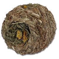 Jouet A Friandise ROSEWOOD Naturals Boule d'herbes - Diametre 15cm - Pour lapins. cochons d'Inde. chinchillas. octodons. rats et hamsters
