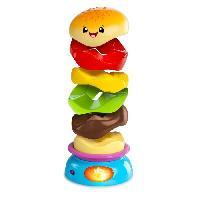 Jouet A Tirer - A Pousser BRIGHT STARTS Hamburger Stack n' Spin