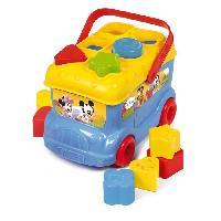 Jouet A Tirer - A Pousser CLEMENTONI Disney Baby - Le bus des formes de Mickey - Jeu d'eveil