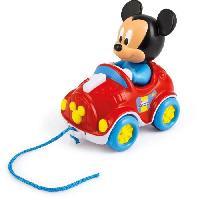 Jouet A Tirer - A Pousser CLEMENTONI Disney Baby - Ma voiture a tirer Mickey - Jeu d'eveil