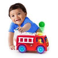 Jouet A Tirer - A Pousser Having a Ball Roll et Pop Fire Truck and School Bus