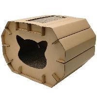 Jouet CAT LOVE Chatiniere grattante avec chat a chat - 50 x 38 x 35 cm (19.64 x 14.9 x 13.7 pouces)