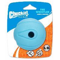 Jouet CHUCKIT! The whistler 1-PK - Balle qui siffle L en caoutchouc 7.5cm - Pour chien