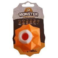 Jouet DEMAVIC Balle Monster petite taille - Orange - Pour chien