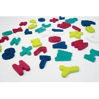 Jouet De Bain Jouets de bains en bocal- lettres. chiffres et animaux - 12 x 20 x 12 cm - Mousse 100 EVA