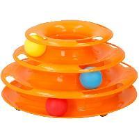 Jouet Jouet tour spirale - 3 balles inclues - 35 x 13.5 cm - Pour chat Aucune