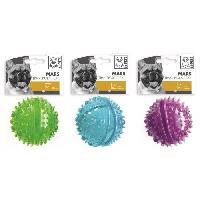 Jouet M-PETS Balle transparente distributrice Mars - 8cm - Divers coloris - Pour chien