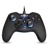 Joystick - Manette - Volant Pc Manette Gamer - Xtrem Gamepad - Filaire - 12 boutons - Noir et Bleu - PS3 PC