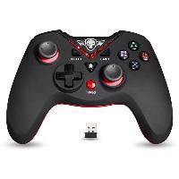 Joystick - Manette - Volant Pc Manette Gamer Xtrem Gamepad - Sans Fil - 12 boutons - Noir et Rouge - PS3 PC