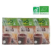 Jus - Soda -sirop-boisson Lactee Boisson soja au chocolat Bio CASINO - 3 x 25 cl