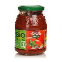 Jus - Soda -sirop-boisson Lactee CASINO Pulpe de tomate basilic - Bio - 400g
