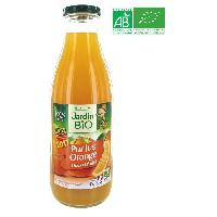 Jus - Soda -sirop-boisson Lactee LEA NATURE Pur jus d'Orange JARDIN BIO 1 L Conditionné en France - Marque Nationale