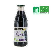 Jus - Soda -sirop-boisson Lactee Pur jus de raisin bio - 1L - Marque Nationale
