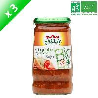Ketchup - Assimile Ketchup SACLA Sauce bolognaise végétarienne au soja - 370 ml x3 - Bio