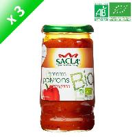 Ketchup - Assimile Ketchup SACLA Sauce tomates et poivrons - 370 ml x3 - Bio