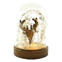 Kit - Coffret Decoration De Noel BLACHERE Cloche verre Deco Rennes 30 Micro LED Blanc chaud - O 12.5 x H 18 cm Blachere Illumination