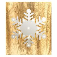 Kit - Coffret Decoration De Noel BLACHERE Tableau LED miroir Flocon de Neige 19 LED Blanc chaud - L 22 x I 3 x H 25 cm Blachere Illumination