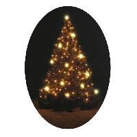 Kit - Coffret Decoration De Noel Cadre lumineux Noel 12 LEDS - Design sapin - 45.7x45.7x2.5 cm - Blanc chaud