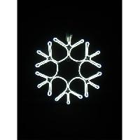 Kit - Coffret Decoration De Noel Decoration Lumineuse Exterieure Flocon de Neige Tube - 43 cm - Lumiere fixe Feeric Light & Christmas