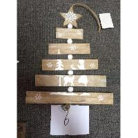Kit - Coffret Decoration De Noel Decoration a suspendre Sapin - Bois - En lames imprimees Feeric Light & Christmas