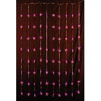 Kit - Coffret Decoration De Noel Décoration de Noël : Rideau LED étoiles - H 180 x 100 cm - Fuchsia - Aucune