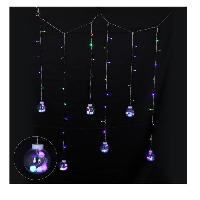 Kit - Coffret Decoration De Noel Glacon interieur 69 LEDS avec 6 boules de Noel transformateur - PVC - Multicolore