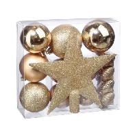 Kit - Coffret Decoration De Noel Kit de 18 pieces de Decoration de Noel - Or Feeric Light & Christmas