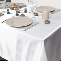Kit - Coffret Decoration De Noel Nappe en satin - 140 x 240 cm - Blanc Feeric Light & Christmas