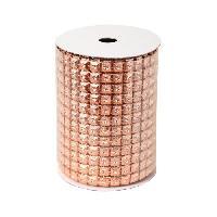 Kit - Coffret Decoration De Noel Rouleau de table maillé en PVC Doré - Rose 200x8 cm - Generique