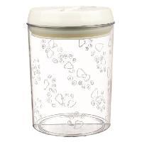 Kit Accessoire Pour Repas Boite snack plastique - 1.5 L - o12x17.5 cm - Transparent et blanc - Pour chien. chat et lapin