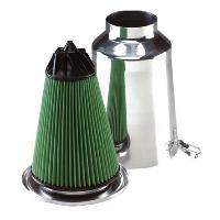 Kit Admission universel Admission Directe Universelle -75mm - TW75A Aluminium - Filtre TWISTER - Green