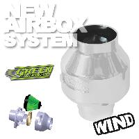 Kit Admission universel Filtre Wind Argent - Admission Directe Universelle - 65-75mm - moins de 100CV - WIA Green