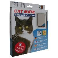 Kit Amenagement Technique De L'habitat KERBL Chatiere 4 voies CatMate - Blanc - Pet Head