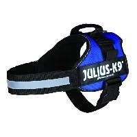 Kit Attache - Sellerie Harnais Power Julius-K9 - 1 - L - 66-85 cm-50 mm - Bleu - Pour chien - Julius K9