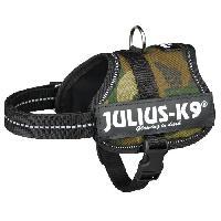 Kit Attache - Sellerie Harnais Power Julius-K9 - Baby 2 - XS-S - 33-45 cm-18 mm - Camouflage - Pour chien - Julius K9