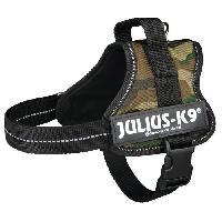 Kit Attache - Sellerie Harnais Power Julius-K9 - Mini - M - 51-67 cm-28 mm - Camouflage - Pour chien - Julius K9