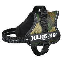 Kit Attache - Sellerie Harnais Power Julius-K9 - Mini-Mini - S - 40-53 cm-22 mm - Camouflage - Pour chien - Julius K9