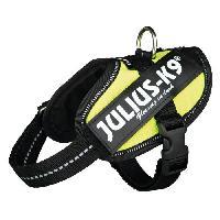 Kit Attache - Sellerie JULIUS-K9 Harnais Power IDC Baby 2-XS?S- 33?45cm jaune fluo pour chien - Julius K9