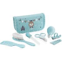 Kit Bain Bebe MINILAND - Baby kit azure - Trousse complete pour le soin et l'hygiene de bebe