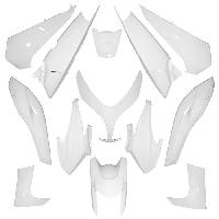 Kit Carrosserie - Bas De Caisse - Aileron - Spoiler - Becquet - Lame - Parechoc - Calandre - Elargisseur D'aile carrosserie-carenage maxiscooter adaptable yamaha 500 tmax 2008>2011 blanc brillant -kit 13 pieces- -p2r-