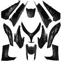 Kit Carrosserie - Bas De Caisse - Aileron - Spoiler - Becquet - Lame - Parechoc - Calandre - Elargisseur D'aile carrosserie-carenage maxiscooter adaptable yamaha 500 tmax 2008>2011 noir brillant -kit 13 pieces- -p2r- - Aucune