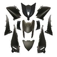 Kit Carrosserie - Bas De Caisse - Aileron - Spoiler - Becquet - Lame - Parechoc - Calandre - Elargisseur D'aile carrosserie-carenage maxiscooter adaptable yamaha 530 tmax 2012>2014 noir mat -kit 11 pieces- -p2r- - Aucune