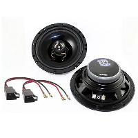 Kit Coaxiaux 2 voies Kit Installation haut-parleur KHP18130-5 pour Peugeot 106 206 - 13cm 100W