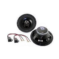 Kit Coaxiaux 2 voies Kit Installation haut-parleur KHP18165-5 pour Peugeot 206 306 406 806 - 16.5cm 120W